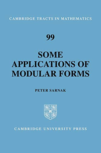 9780521067706: Some Applications of Modular Forms (Cambridge Tracts in Mathematics)