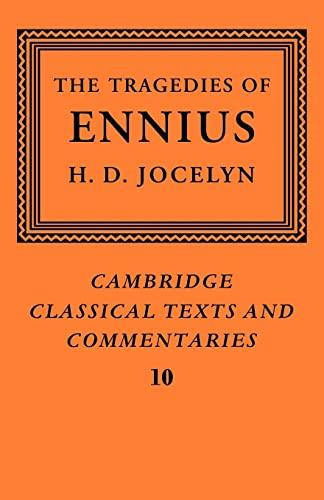 9780521068963: The Tragedies of Ennius: The Fragments