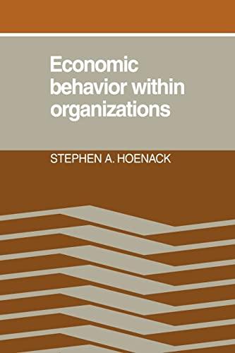 9780521069090: Economic Behaviour within Organizations