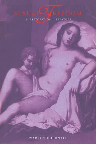 9780521069168: Sexual Freedom in Restoration Literature