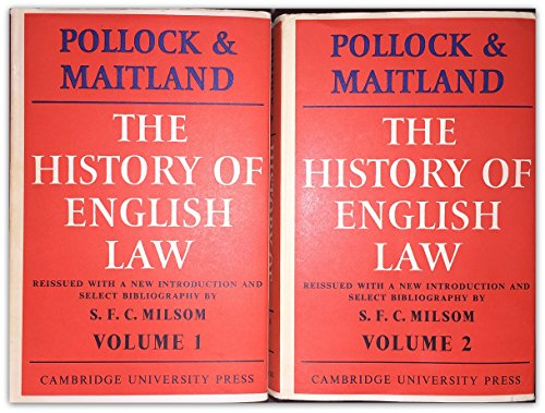 9780521070621: The History of English Law before the Time of Edward I - Volumes I and II - (v. 2)