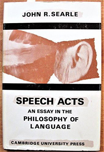 9780521071840: Speech Acts: An Essay in the Philosophy of Language