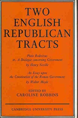 Two Republican Tracts: Robbins, Caroline
