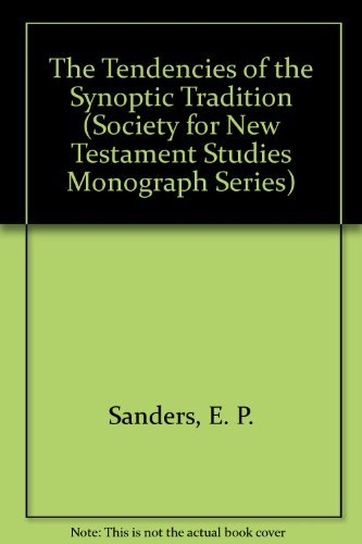 9780521073189: The Tendencies of the Synoptic Tradition (Society for New Testament Studies. Monograph series, 9)