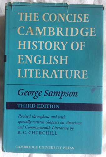 9780521073851: Concise Cambridge History of English Literature