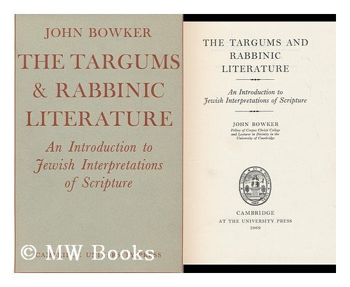 9780521074155: The Targums and Rabbinic Literature: An Introduction to Jewish Interpretations of Scripture