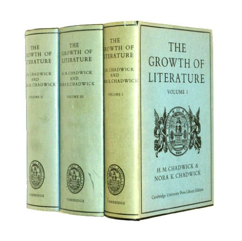 9780521074223: The Growth of Literature: Volume 1, The Ancient Literatures of Europe: v. 1