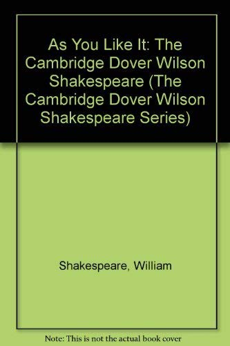 9780521075275: As You Like It: The Cambridge Dover Wilson Shakespeare (The Cambridge Dover Wilson Shakespeare Series)