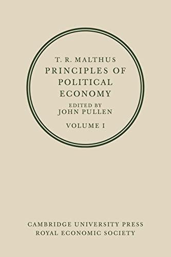 9780521075916: T. R. Malthus: Principles of Political Economy, Vol. 1
