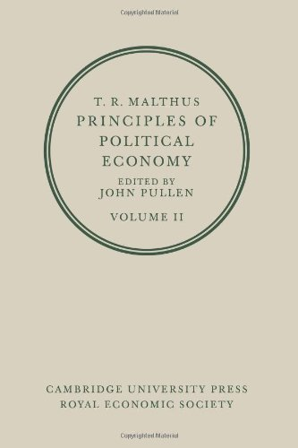 9780521075930: T. R. Malthus: Principles of Political Economy: Volume 2