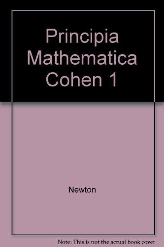 Principia Mathematica Cohen 1 (0521076463) by Newton