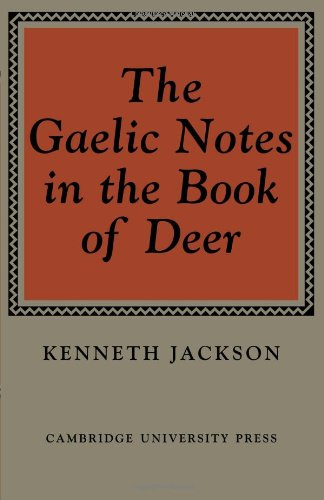 9780521076753: The Gaelic Notes in the Book of Deer