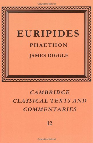 EURIPIDES: PHAETHON Edited with Prolegomena and Commentary.