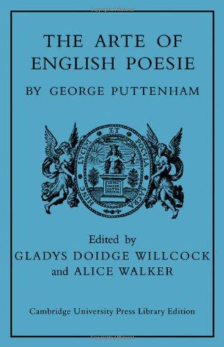9780521077828: The Arte of English Poesie
