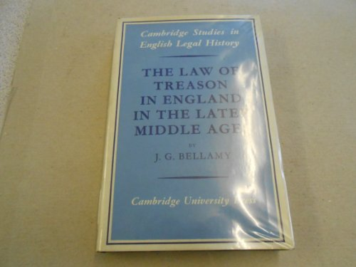 9780521078306: The Law of Treason in England in the Later Middle Ages (Cambridge Studies in English Legal History)