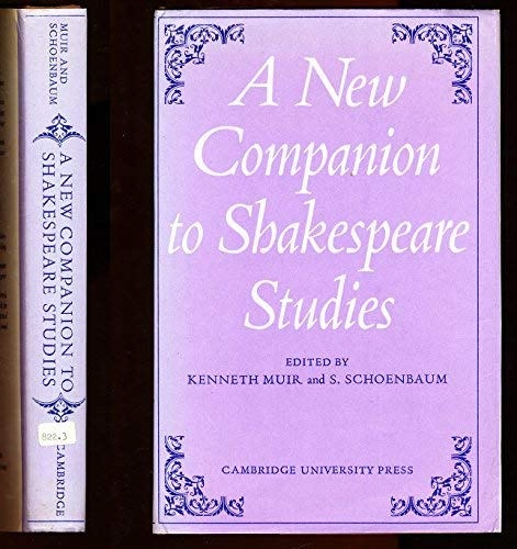 9780521079419: A New Companion to Shakespeare Studies