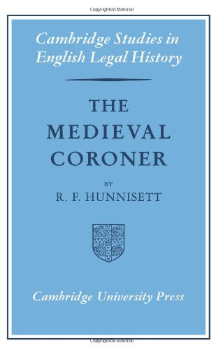 9780521079433: The Medieval Coroner (Cambridge Studies in English Legal History)