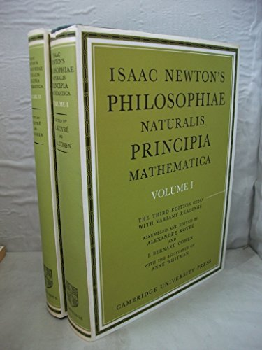 9780521079600: Isaac Newton's Philosophiae Naturalis Principia Mathematica: Volume 2: The Third Edition (1726) with Variant Readings