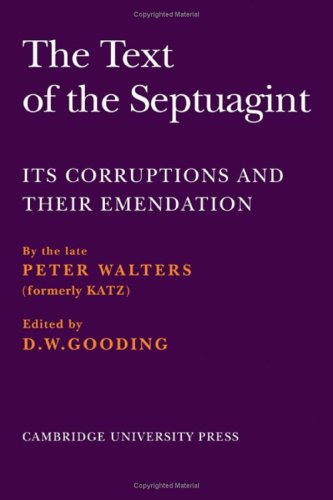 9780521079778: The Text of the Septuagint: Its Corruptions and their Emendation