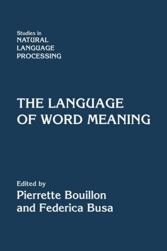 9780521080149: The Language of Word Meaning (Studies in Natural Language Processing)