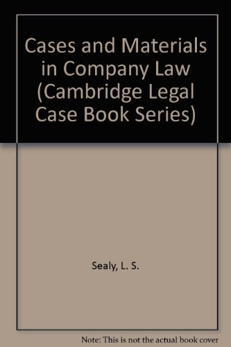 9780521081177: Cases and Materials in Company Law (Cambridge Legal Case Book Series)