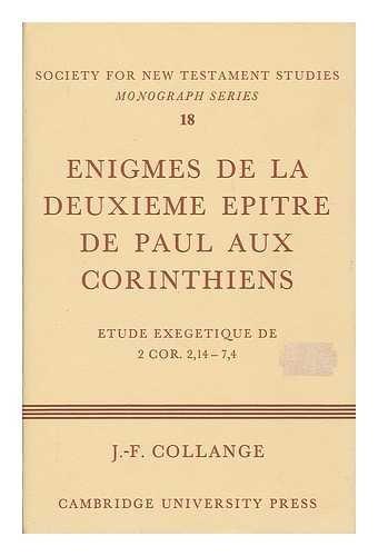 9780521081351: Enigmes de la Deuxieme Epitre de Paul aux Corinthiens (Society for New Testament Studies Monograph Series) (French Edition)