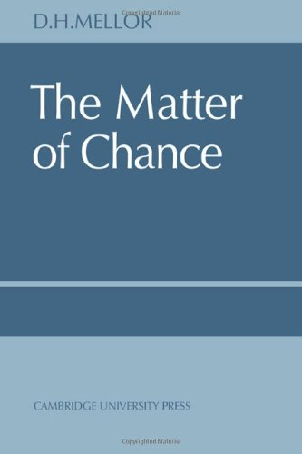 9780521081948: The Matter of Chance