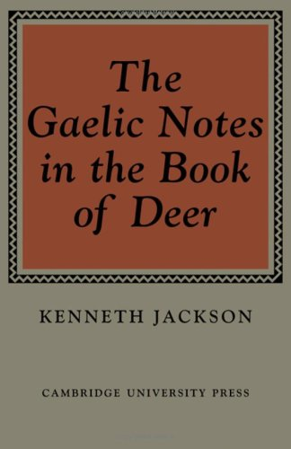 9780521082648: The Gaelic Notes in the Book of Deer (Osborn Bergin memorial lecture)