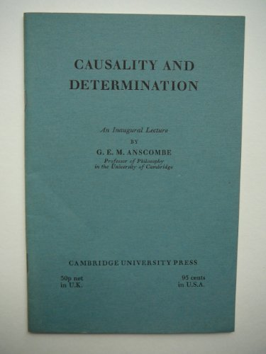 9780521083041: Causality and Determination