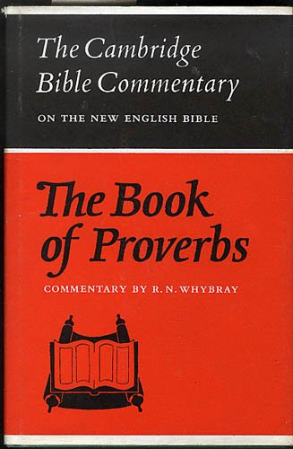 9780521083645: The Book of Proverbs (Cambridge Bible Commentaries on the Old Testament)