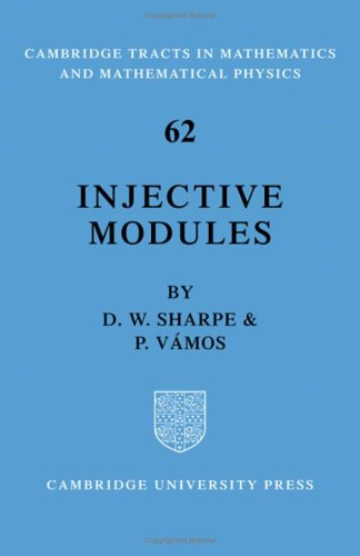 9780521083911: Injective Modules (Cambridge Tracts in Mathematics)