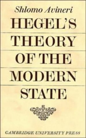 9780521085137: Hegel's Theory of the Modern State (Cambridge Studies in the History and Theory of Politics)