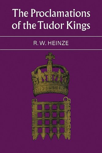 9780521085540: The Proclamations of the Tudor Kings