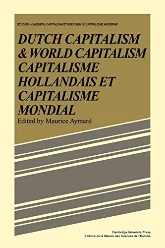 9780521086073: Dutch Capital and World Capitalism: Capitalisme hollondais et capitalisme mondial