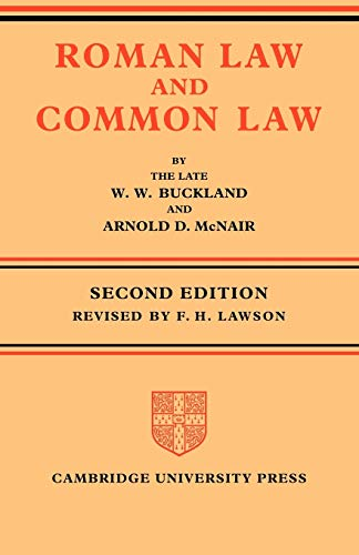 9780521086080: Roman Law and Common Law: A Comparison in Outline