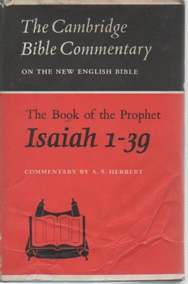 The Book of the Prophet Isaiah, 1-39