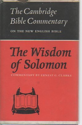 9780521086356: The Wisdom of Solomon