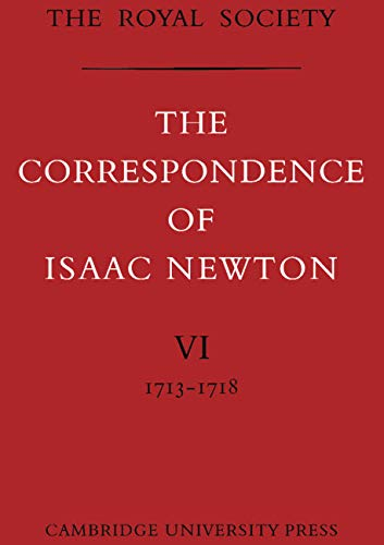 9780521087223: The Correspondence of Isaac Newton: Volume 6, 1713-1718 (v. 6)