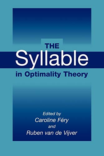 9780521087889: The Syllable in Optimality Theory
