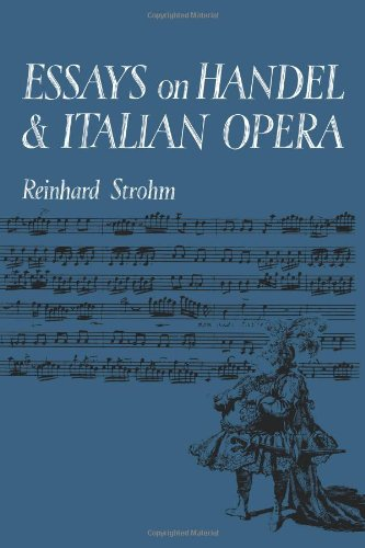 9780521088350: Essays on Handel and Italian Opera