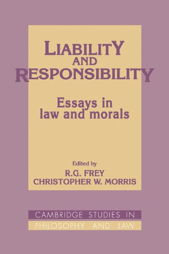 9780521088664: Liability and Responsibility: Essays in Law and Morals (Cambridge Studies in Philosophy and Law)