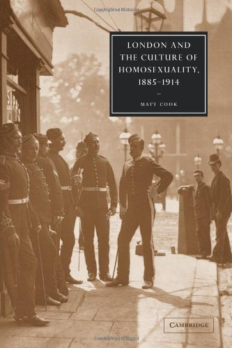 9780521089807: London and the Culture of Homosexuality, 1885-1914