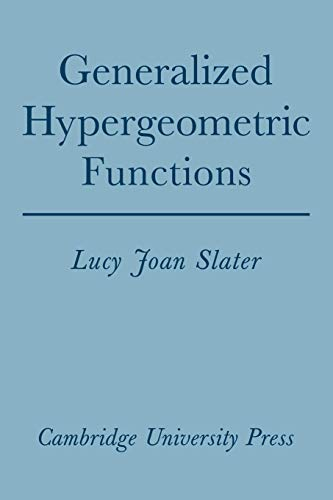 9780521090612: Generalized Hypergeometric Functions