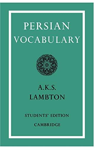 9780521091541: Persian Vocabulary