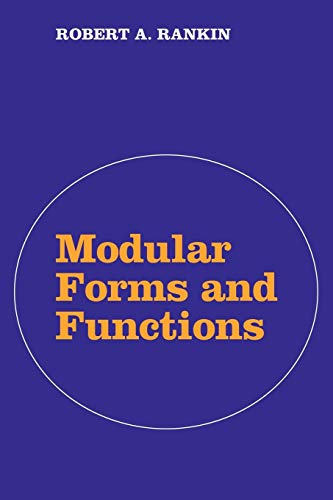 9780521091688: Modular Forms and Functions