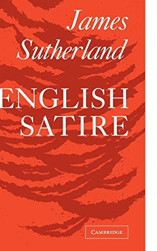 9780521091756: English Satire (Clark Lectures)