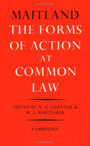 9780521091855: The Forms of Action at Common Law: A Course of Lectures