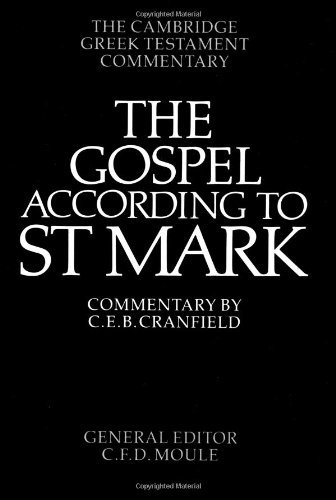 9780521092043: The Gospel According to St Mark: An Introduction and Commentary (Cambridge Greek Testament Commentaries)