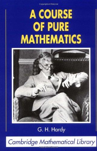 9780521092272: A Course of Pure Mathematics (Cambridge Mathematical Library)