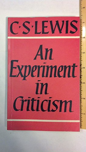 9780521093507: An Experiment in Criticism